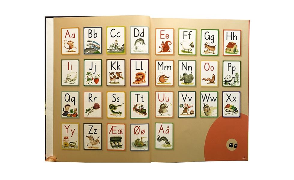 Alfabetet med bogstaver og dyr
