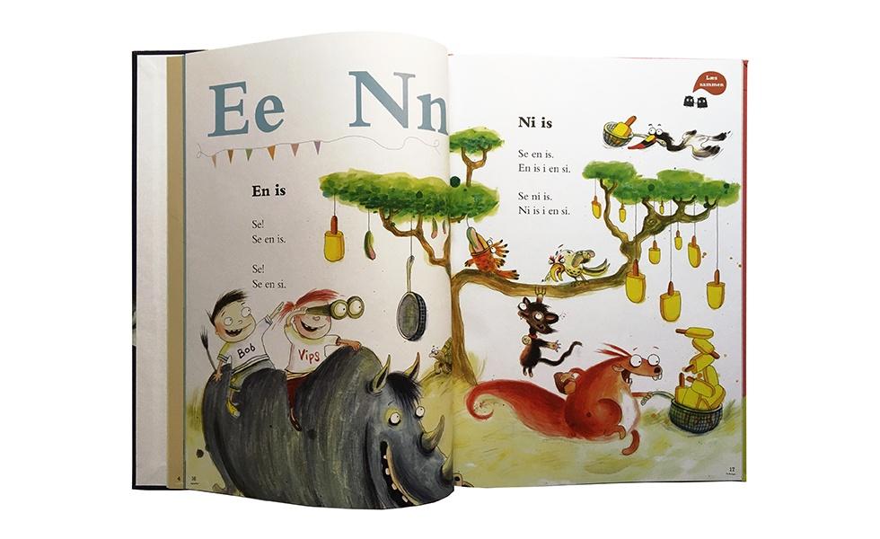Boigstavet E og N med Næsehorn