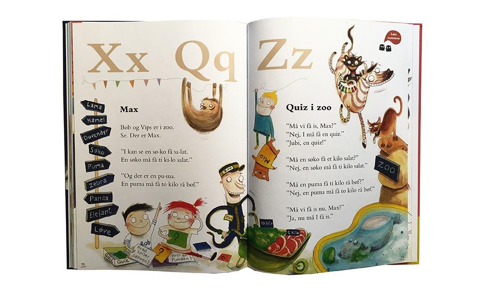 Bogstavewt X Q og Z og dyr i Zoo