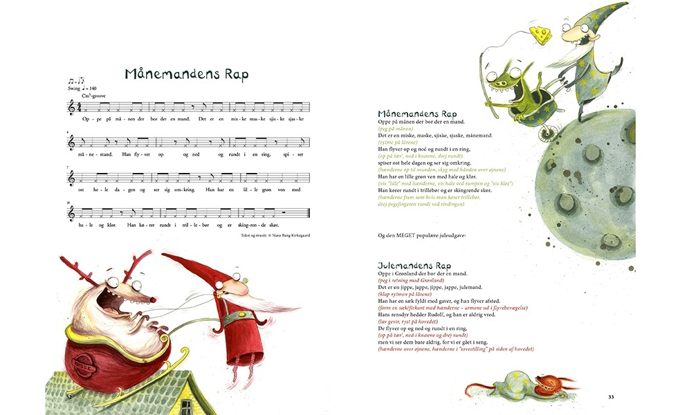 Sang med julemand og månemand