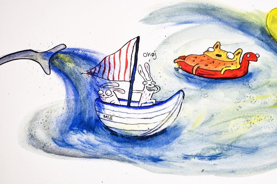 Kaniner i sejlbåden Mie