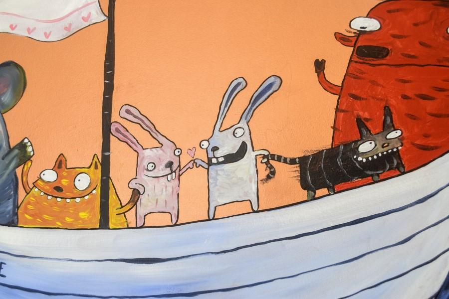 Kaniner og katte på sejlskib
